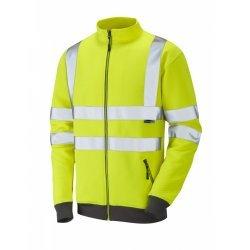Leo Workwear Libbaton Class 3 Yellow Hi Vis Track Top