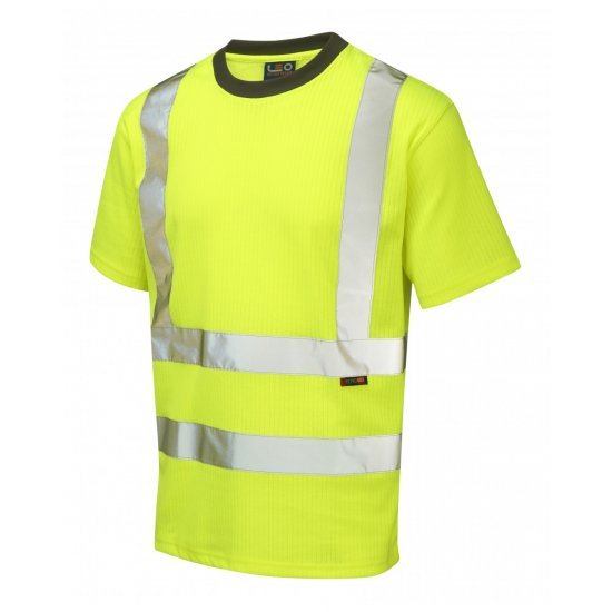 Leo Workwear Newport Class 2 Yellow Poly/Cotton T Shirt