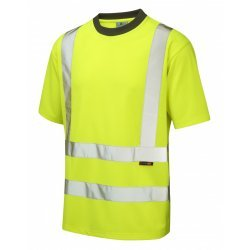 Leo Workwear Braunton Class 2 Yellow Hi Vis T-Shirt