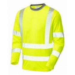 Leo Workwear Capstone Hi Vis Sleeved Yellow T-Shirt