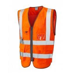 Leo Workwear Cobbaton Class 2 GO/RT Orange Hi Vis CoolViz Waistcoat