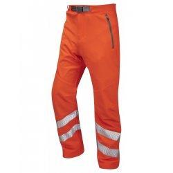 Leo Workwear Landcross Class 1 GO/RT Orange Hi Vis Stretch Work Trouser