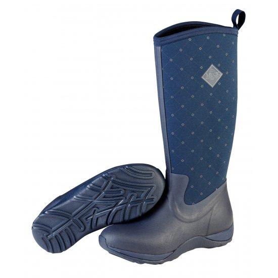 Muck Boots Arctic Adventure Navy Quilt Ladies Wellingtons