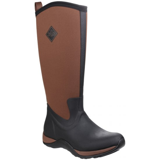 Muck Boots Arctic Adventure Ladies Tan Wellingtons