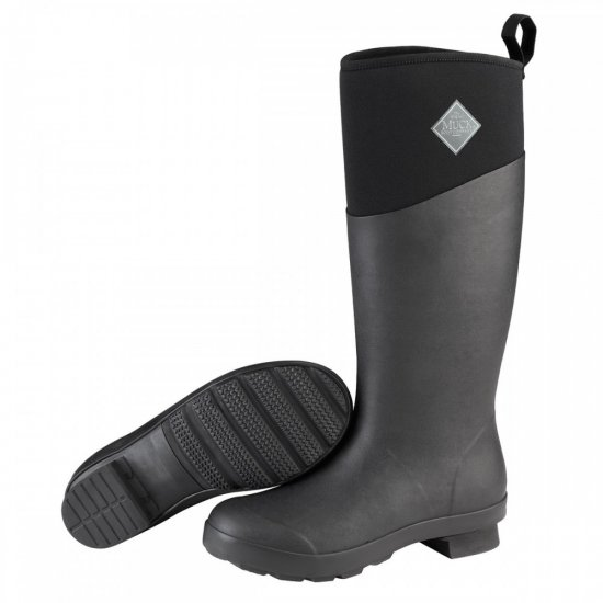 Muck Boots Tremont Tall Black Ladies Wellingtons
