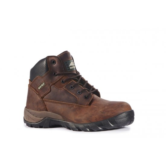 Rock Fall Flint Brown Metal Free Safety Boots