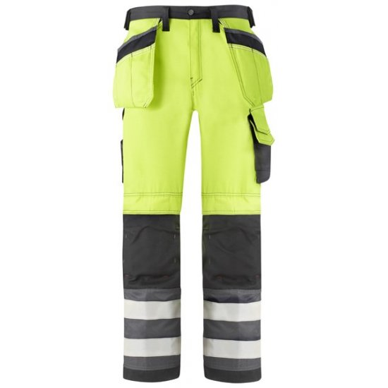 Snickers 3233 Class 2 Hi Vis Holster Pocket Trousers