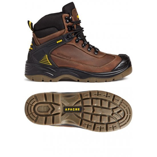Apache Ranger Brown Safety Boots Steel Toe Cap & Composite Midsole