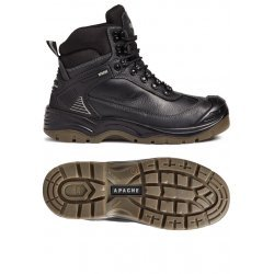 Apache Ranger Black Safety Boots Steel Toe Cap & Composite Midsole