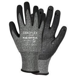 Cofra Gekoflex Grey - Black Nitrile Gloves Water Repellent Back