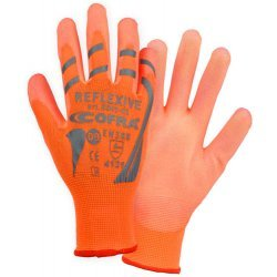 Cofra Reflexive Hi-Vis Orange Gloves Gloves for Mechanical Protection