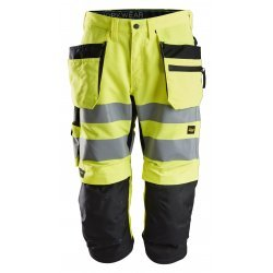 Snickers 6134 LiteWork Class 2 Hi Vis Pirate Holster Pocket Trousers