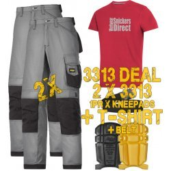 Snickers 3313 Trousers x2 Plus Snickers 9110 Kneepads & SD T-Shirt & PTD Belt