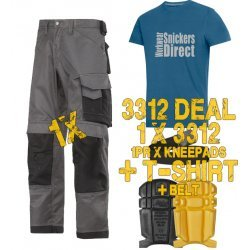 Snickers 3312 Trousers Plus Snickers 9110 Kneepads & PTD Belt