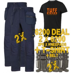 Snickers 6200 Trousers x2 Plus Snickers 9111 Kneepads x2 & SD T-Shirt & PTD Belt