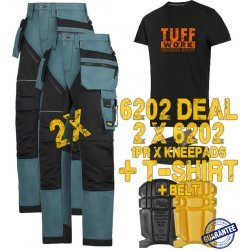 Snickers 6202 Trousers x2 Plus Snickers 9110 Kneepads & SD T-Shirt & PTD Belt