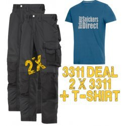 Snickers 3311 Trousers x2 Plus SD T-Shirt