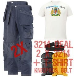 Snickers 3214 Trousers x2 Plus Snickers 9110 Kneepads & SD T-Shirt & PTD Belt