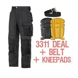 Snickers 3311 Trousers Plus Snickers 9110 Kneepads & PTD Belt