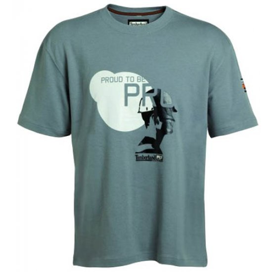Timberland Pro 336 Short Sleeve Printed T-Shirt Dirty Grey 4268336