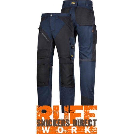 6303 Petrol Blue Snickers Heavy-duty RuffWork Work Trousers