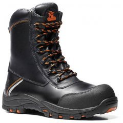 V12 E1300XL Defiant Black High Leg Safety Boots (14-16)
