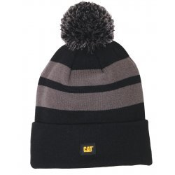 CAT Black Aspen Cap Knit Stripes