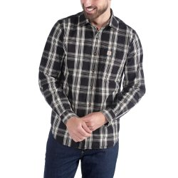 Carhartt L/S Essential Open Collar Shirt Plaid